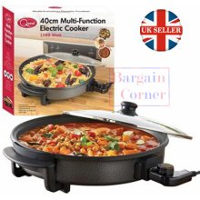 Quest 40cm Multi Function Electric Cooker Pan with Lid 1550w