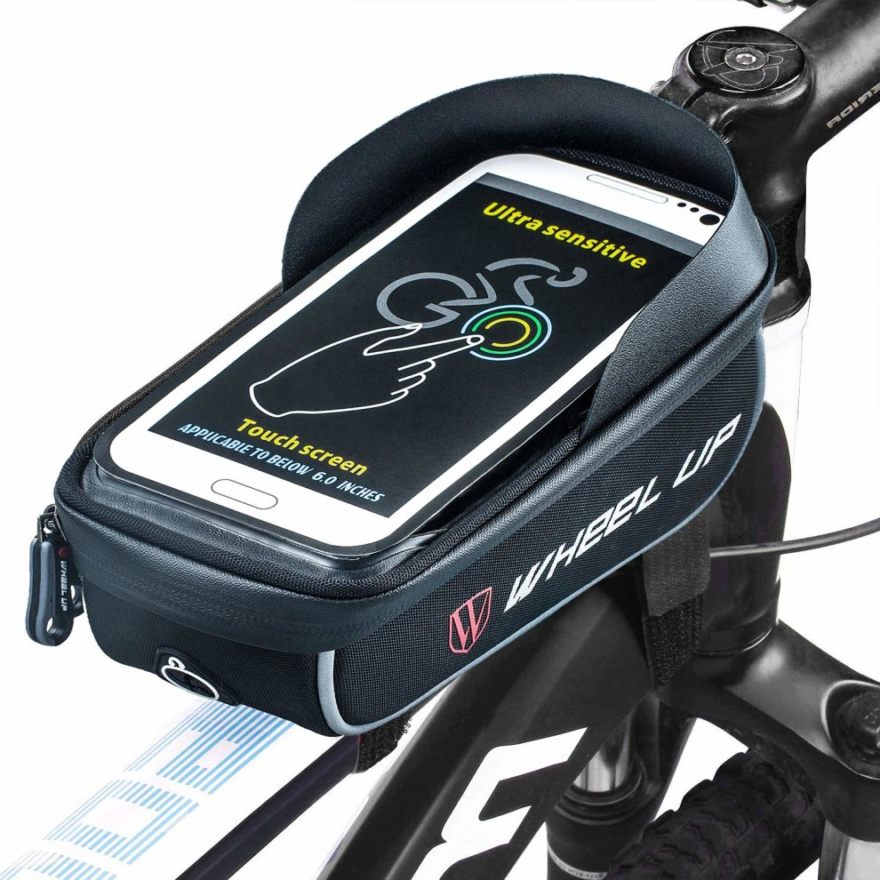Cycling Bike Bicycle Frame Front Tube Bag Phone Holder Storage Pouch Bags