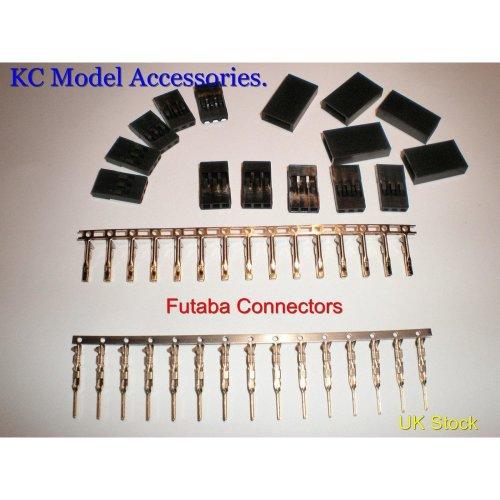 Futaba Set Male & Female Connectors 3 Pin Servo or Battery Connectors 5 Pairs UK