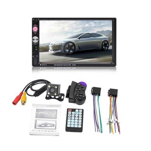 HD Touch Screen Car Radio Bluetooth Stereo Audio, Dual Multimedia Rear Camera Remote Controller