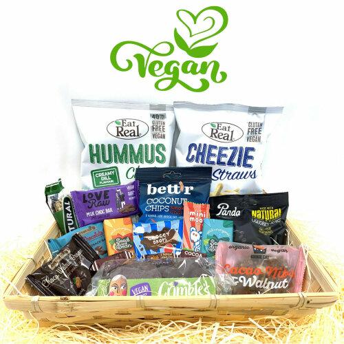 Vegan Vegetarian Food Gift Hamper Box Sweet Chocolate Selection Bars