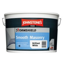 Johnstone's Smooth Masonry Paint Brilliant White with Quick Rain Resistance Technology 10L