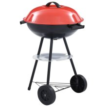 vidaXL Portable Charcoal Kettle BBQ   Extra Large Barbecue Grill