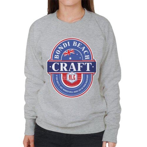 (Large, Heather Grey) Bondi Beach Craft Ale Women's Sweatshirt