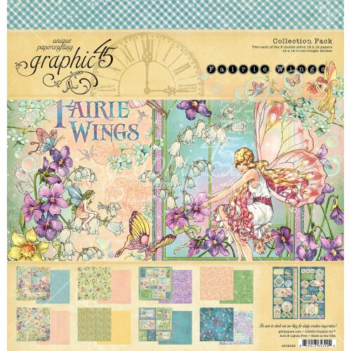 """Graphic 45 Collection Pack 12""""X12""""-Fairie Wings"""