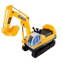 deAO Toys Electric Ride-On Excavator   Battery Operated Toy Digger