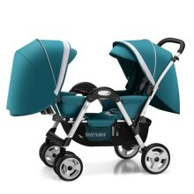 Twin Double Light Folding Baby Stroller, Can Sit And Lay