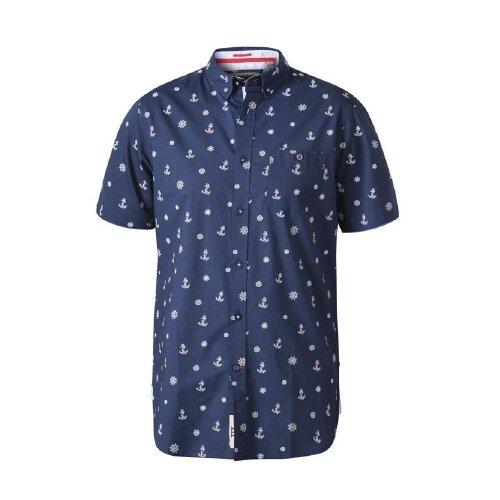 Duke Mens Kirk D555 Nautical Short Sleeve Shirt