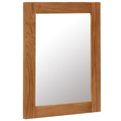 vidaXL Solid Oak Wood Mirror 40x50cm Bathroom Hall Makeup Vanity Decoration