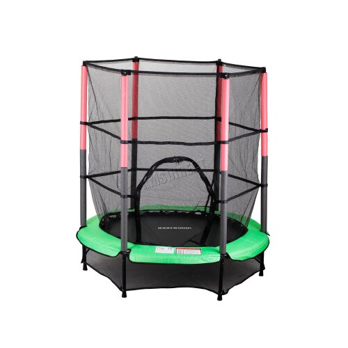 WestWood Childrens Mini Trampoline With Safety Net 4.5FT Kids Rebounder Green