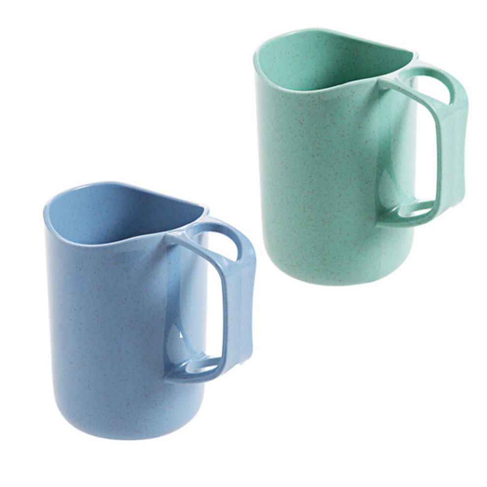 Coffee Mugs Tea Plastic Cup Healthy Wheat Straw Milk Cup