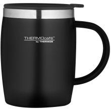 Thermos ThermoCafé Soft Touch Desk Mug, Black, 450 ml