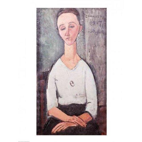 Portrait of Madame Chakowska 1917 Poster Print by Amedeo Modigliani - 18 x 24 in.