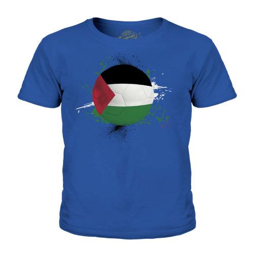 (Royal Blue, 7-8 Years) Candymix - Palestine Football - Unisex Kid's T-Shirt
