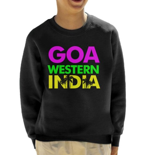 Goa Western India Neon Text Kid's Sweatshirt