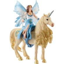 Schleich Eyela Riding on Golden Unicorn Bayala