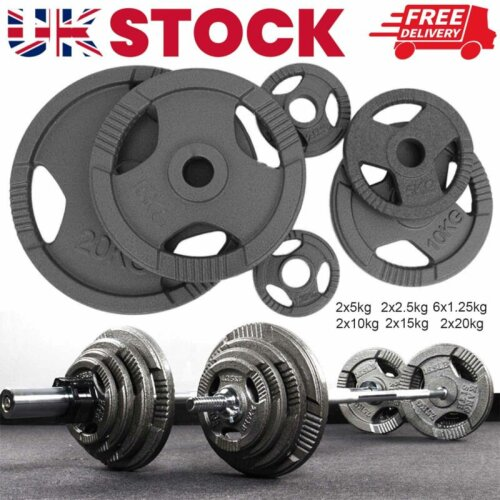 Weight Plates for Dumbbells & Weights Lifting Bars Gym Barbell 4x1.25KG