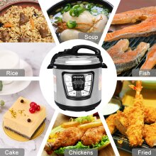 6L Stainless Steel 6-in-1 Multi Electric Pressure Cooker
