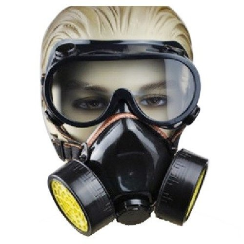 TRIXES 2 Piece Gas Mask Fancy Dress Accessory Respirator Mask/Goggles