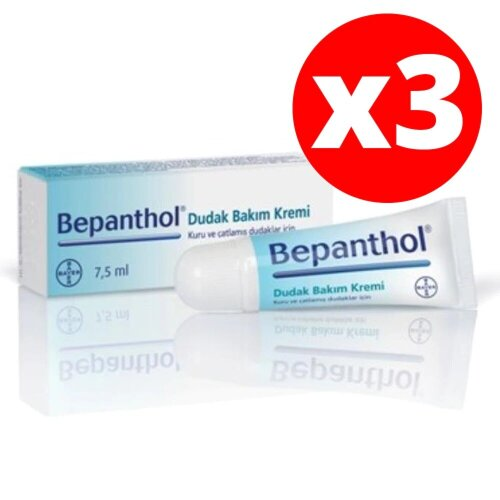 Bepanthol Lip Care Cream Dermatologically Tested 7.5g Moisturize Dry Chapped Lips
