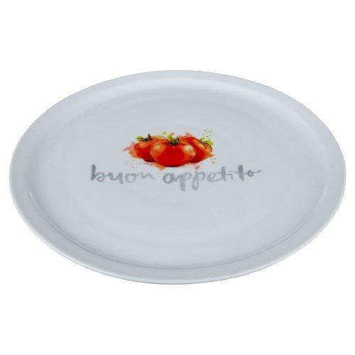Italian White Porcelain Pizza Plate