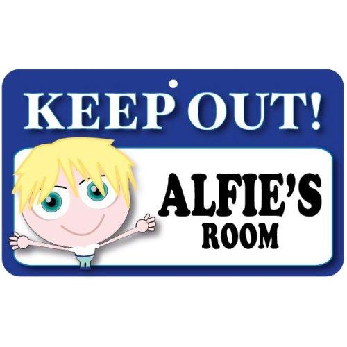 Keep Out Door Sign - Alfie's Room