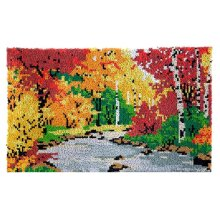 Autumn Rug Latch Hooking Kit (85x58cm)