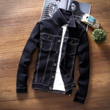 TG6249 Cheap wholesale 2018 new Han edition men jean jacket thin black denim jacket coat jacket students tide