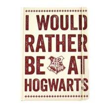 Harry Potter Notebook rather be at Hogwarts Slogan Official A5 lined hardback