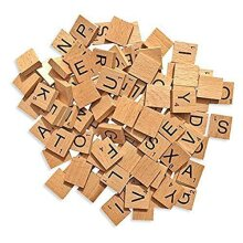 KAV 100 Wooden Alphabet Tiles Replacement Letters for Board Games, Wedding Frame and Wall Art