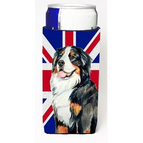 Bernese Mountain Dog With English Union Jack British Flag Michelob Ultra bottle sleeves For Slim Cans - 12 Oz.