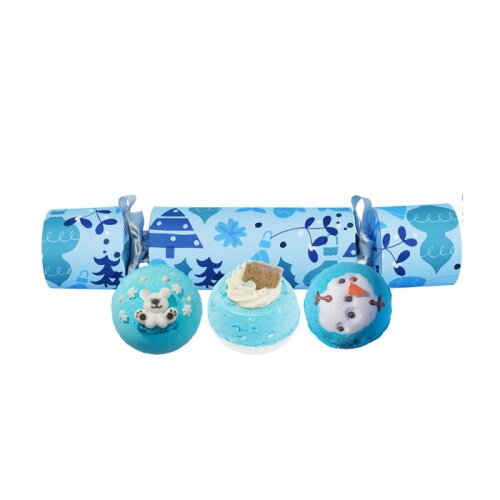 Bomb Cosmetics Christmas Cracker ! Want For Christmas Blue Bath Bombs