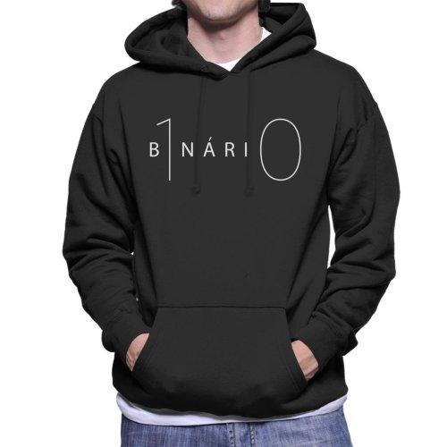 Maths And Science Binary Men's Hooded Sweatshirt