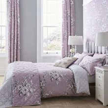Catherine Lansfield Canterbury Easy Care Double Duvet Set Heather