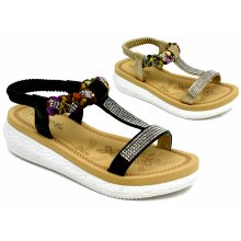 New Gladiator Slip On Strap Wedge Girls Sandal