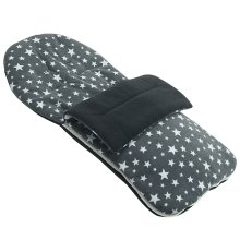 Fleece Footmuff Compatible With Tippitoes Move - Grey Star