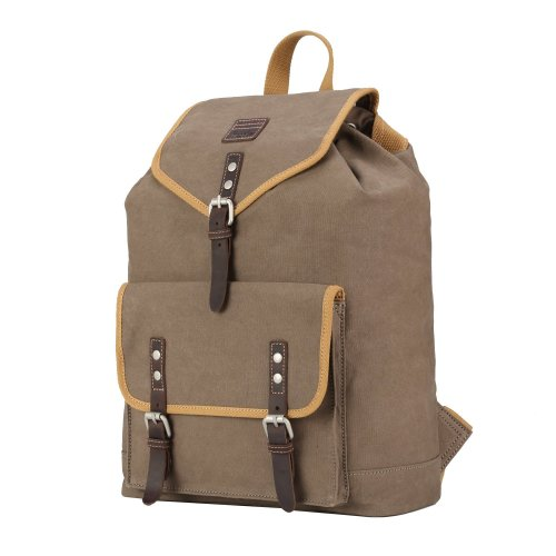TRP0534 Troop London Heritage Washed Canvas Daypack, Laptop Backpack
