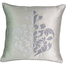 """Beautyrest chacenay Embroidered Decorative Pillow, 18"""" x 18"""", Paloma grey"""