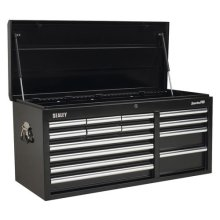 Sealey AP41149B 14 Drawer Topchest with Ball Bearing Runners Heavy-Duty - Black