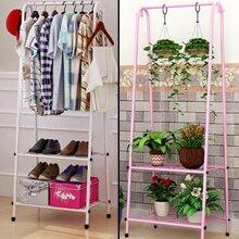 Large Clothes Rail Rack Garment Dress Hanging Display Stand Shoe Storage Shelf