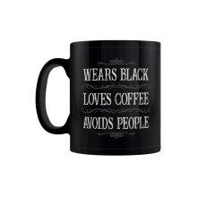 Grindstore Wears Black, Loves Coffee, Avoids People Mug