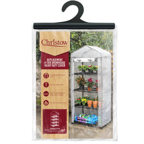 4 Tier Mini Greenhouse Replacement Cover Grow House Protector – Mesh COVER ONLY