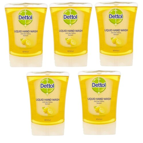 Dettol No-Touch Refill Anti-Bacterial Hand Wash, Citrus , 5 x 250 ml