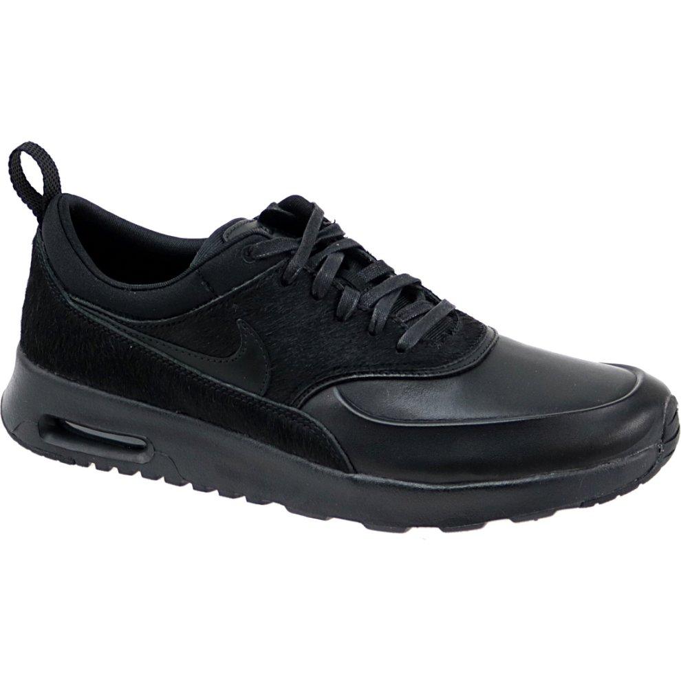 (3) Nike Wmns Air Max Thea Premium 616723-011 Womens Black sneakers