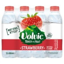 Volvic Touch of Fruit Strawberry Natural Flavoured Water 12 x 500ml (12 x 500ml)