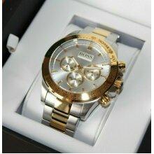 Hugo Boss 1512960 Ikon Men's Chronograph Quartz Watch - Silver/Gold