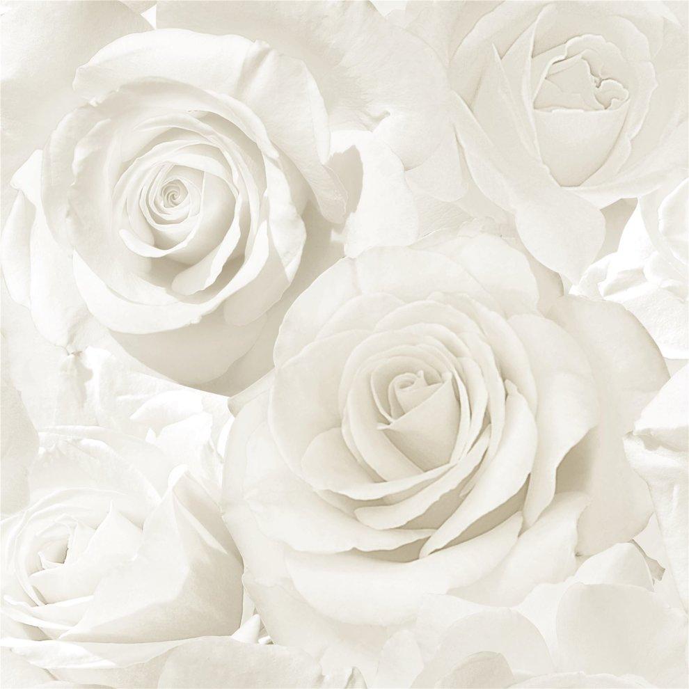 Muriva Madison Rose Pattern Wallpaper Flower Petal Botanical Glitter Vinyl