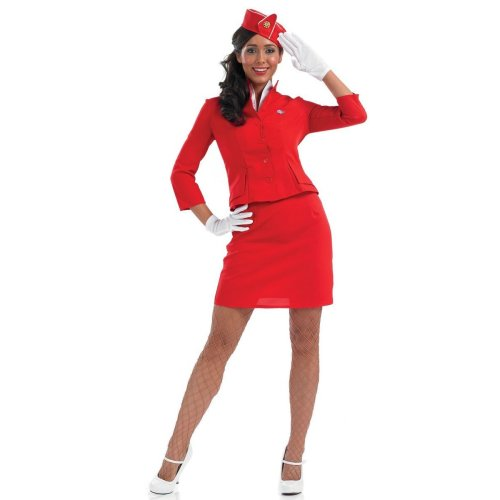 Girls Air Hostess Cabin Crew Stewardess Kids Fancy Dress