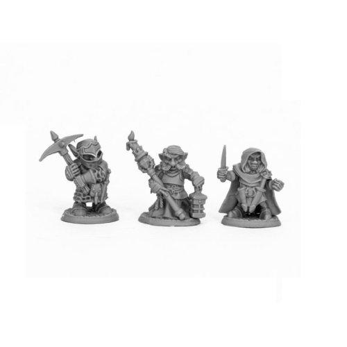 Reaper Bones Black 44060 Deep Gnome Warriors (3)