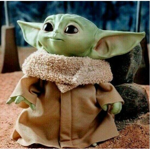 30cm Star Wars Mandalorian The Child Plush Baby Yoda Doll Mattel Kids Baby Gift